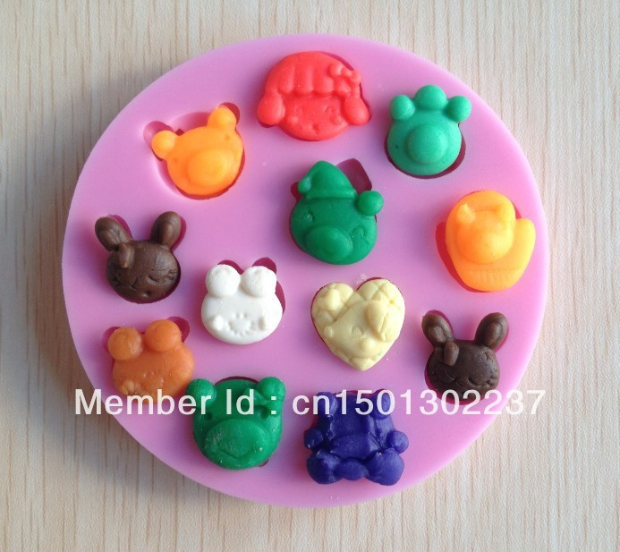 Free shipping 1Pcs baby animal Chocolate Candy Jello 3D silicone Mold Mould cake tools Bakeware Pastry Soap Mold(China (Mainland))
