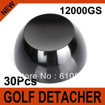 30Pcs Black Golf Detacher Super Magnetic Force 12000GS Security Tag Remover Hard Detacher Eas System