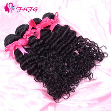 Indian Hair Wet And Wavy Human Hair Weave Sale Indian Virgin Hair Deep Wave Human Hair Bulk(China (Mainland))