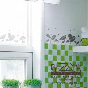 waistline line love family friend wall stickers decoration decor home decal fashion cute waterproof bedroom living house glass(China (Mainland))