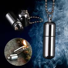 Gear Fire Stash Waterproof Survival Lighter Key ring Camping Pocket Key Chain fire striker best windproof lighter(China (Mainland))