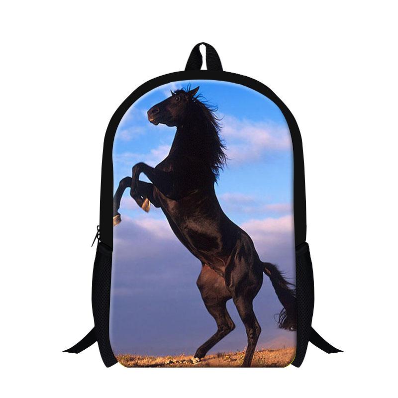 New designer horse backpacks for teen boys,students back pack magazine,cool mens hiking bag,fashion bookbag for college,stylish(China (Mainland))