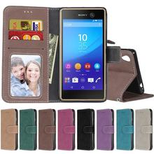 Buy Coque Sony Xperia M4 Aqua Case Leather Wallet Phone Cases Sony M4 Aqua Case Luxury Frosted Leather Bag Flip Cover black Capa for $4.89 in AliExpress store
