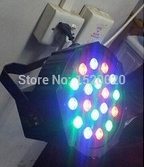 6pcs/lot mini par led flat par light 18pcs*1W DMX control par led stage light(China (Mainland))
