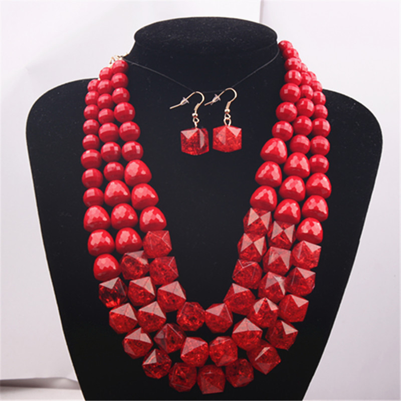 2015 Fashion Party Jewelry Set African Nigerian Beads Sets 18k Bridal New Gift Free Shippin - Verynice store