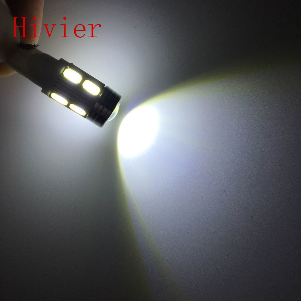 New 2x T10 5630 White Red Blue Green 10smd W5w Auto Car Led Light Bulb 194 168 DC 12v Interior Parking Projector Lens Wholesale(China (Mainland))