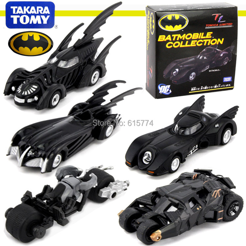 Tomy alloy car limited car motorcycle Batman car motorcycle chariots 1 price of one car(China (Mainland))