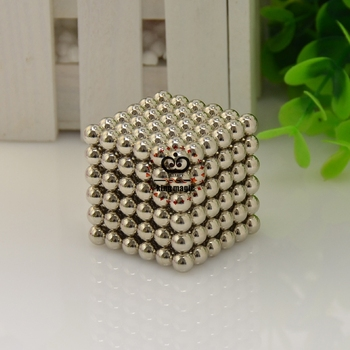 D6 Size: 6mm (5.8mm) 216pcs/set With Metal Box Buckyball Neo Cube Magnetic Balls 6MM Neocube Neodymium Color:Nickel