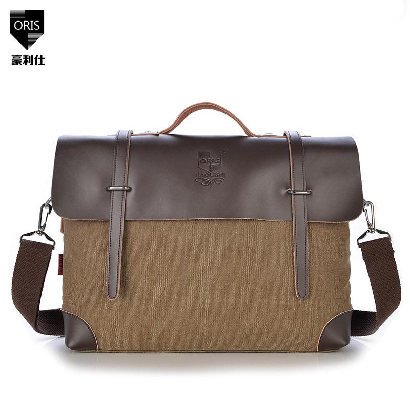Newest Retro Fashion Cavas Messenger Bag, School Shoulder, Travelling Bag, Women And Man Bag 5 Colors, Wholesales,Free Ship 1033(China (Mainland))