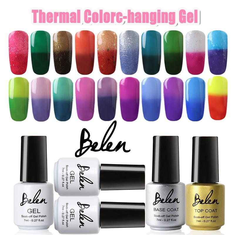 Belen UV Gel Nail Polish Paint That Changes Color Top Base Vernis Gel UV Gelpolish Vernis Semi Permanent Gel Varnishes lacquer(China (Mainland))
