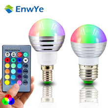 Buy 1Pcs E27 E14 LED RGB Bulb lamp AC110V 220V 3W LED RGB Spot light dimmable magic Holiday RGB lighting+IR Remote Control 16 colors for $3.06 in AliExpress store