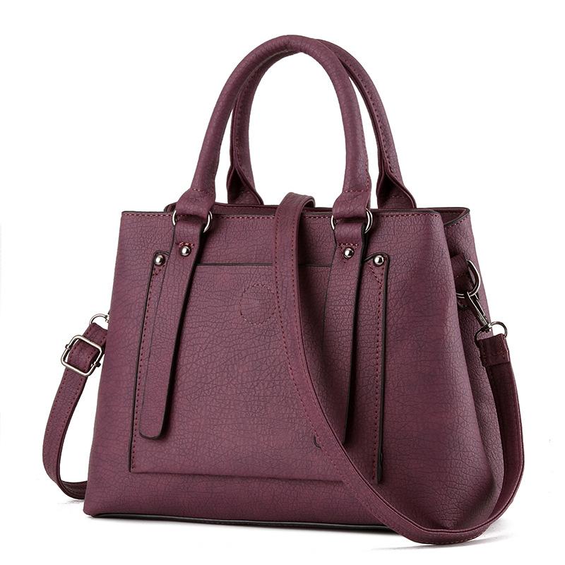 brand design handbag women fashion black tote bag high quality PU leather shoulder bags female solid elegant OL handbag(China (Mainland))