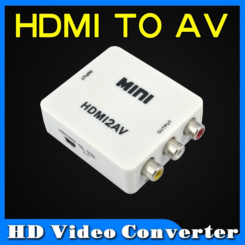 2015 Hot Sell Mini USB HDTV Video Converter HDMI To AV Male To Female RCA 480P Audio Signal Adapter HDMI 2AV For DV Laptop(China (Mainland))