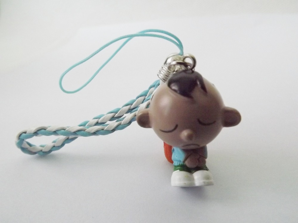 Lovely Boy Pendant Charm with Strap for Mobile Phone - 1CM x 3CM(China (Mainland))