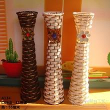 Hot-selling - fashion vase - iron flower - floor vase - rattan vase - 12(China (Mainland))