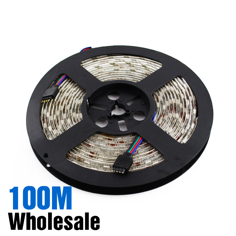 Wholesale 100m SMD 5050 LED Strip RGB Color-changing 300 SMD5050 per Roll (60LED/m) DC 12V For Home Decoration(China (Mainland))