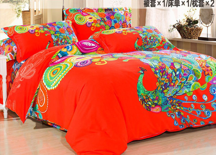 Peacock Print Bedding Promotion Shop For Promotional