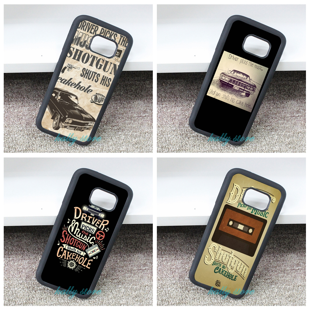 Driver Picks the Music Supernatural Cover Case for Samsung galaxy S3 S4 S5 S6 S6 edge S7 S7 edge Note 3 Note 4 Note 5 &bb146(China (Mainland))