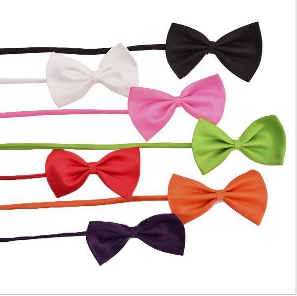 Dog Cat Pet Puppy Bow Tie Necktie Collar,Cute Dog Bow Tie Collar Wedding,Doggie Bows(Black,Green,Pink,Purple,Red,White,Yellow)(China (Mainland))