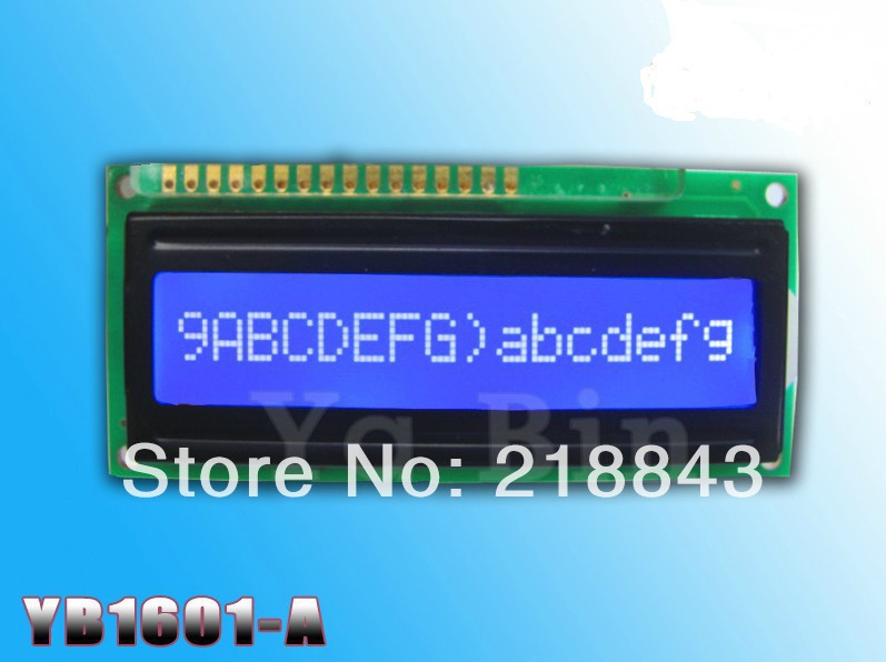 Free shipping(10pcs/lot) LCD1601 16x1 Character 5.0V LCD Display Module SPLC780C Controller Yellow/Blue backlight(China (Mainland))