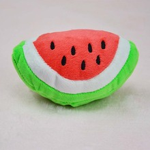 Cute Watermelon Plush pet dog cat Sound squeakers squeaky Toy for small dog Chihuahua dog chew