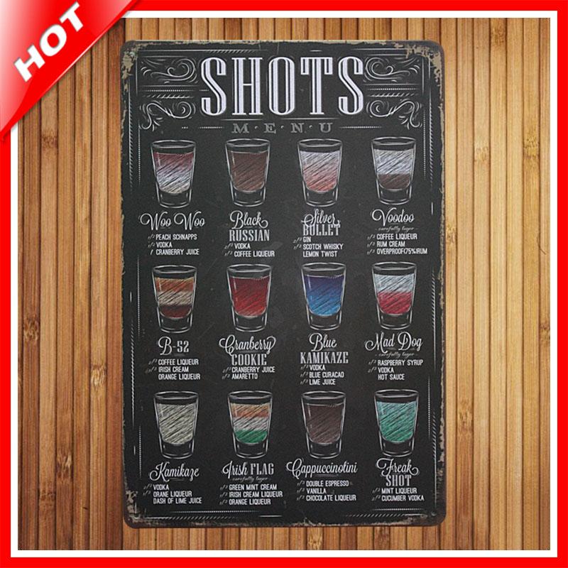 new drink menu chic home bar vintage metal signs home new tin home decor december new home decor k bid