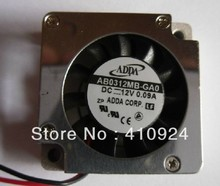 Used Free Shipping DC12V 0.10A Server Cooling Fan For ADDA AB4512HB-QA0 Server Blower Fan 45x45x8mm 2-wire