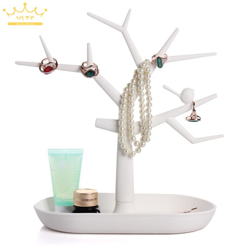 Free Shipping Jewelry Necklace Ring Earrings Bird Tree Stand Display Organizer Holder Rack