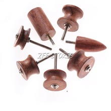 New 7Pcs/set Skirt Chaser Leather Burnisher Kits Cocobolo Leather Tool