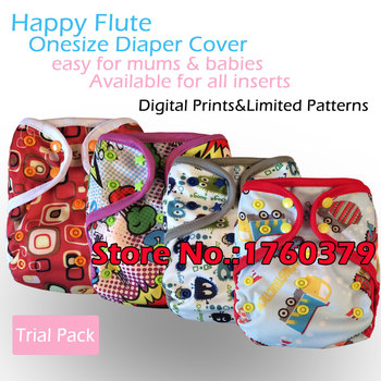 Happy Flute Onesize diaper cover,work with insert or fitted diaper,waterproof and breathable, easy to wash off the solid.