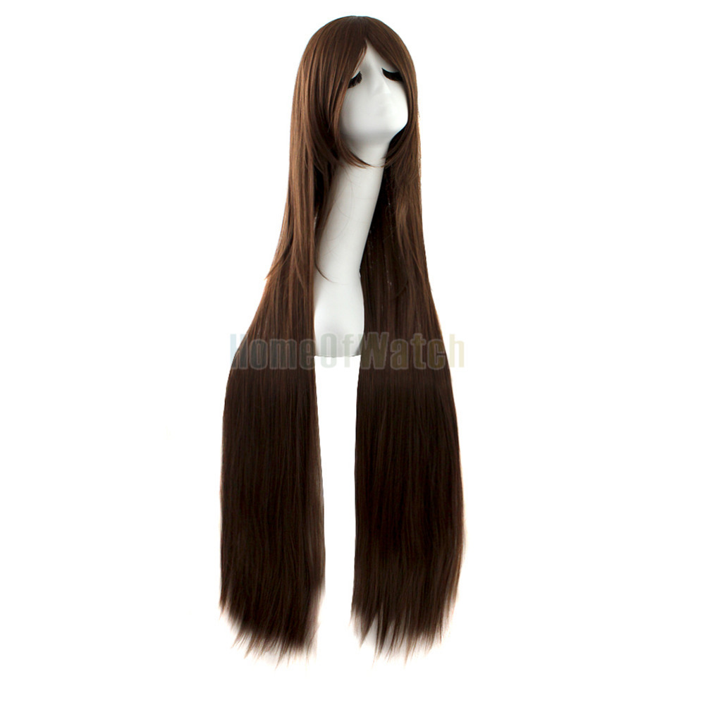 Charm Long Straight Dark Brown Hair Synthetic Wig(NWG0CP60917-BN2)(China (Mainland))