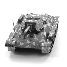 Buy T-34 Tank 3D Metal Puzzle DIY Toys Boy Assembly Model Stainless Steel Educational Toys IQ Puzzles Adult/Children for $2.96 in AliExpress store