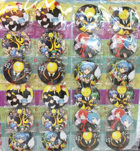 Assassination Classroom 5.8 CM 24x per lot set new Cartoon& Animation PIN back BADGES BUTTONS PARTY BAG GIFT CLOTH