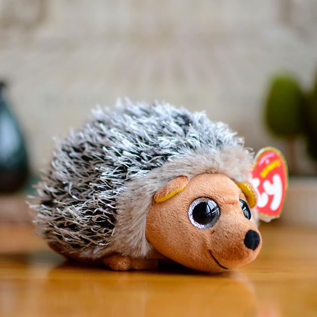 Ty Большие Глаза Beanie Боос Детей Плюшевые Игрушки Коричневый Еж Милые детские Рождественские Подарки Kawaii Симпатичные Мягкие игрушки Куклы