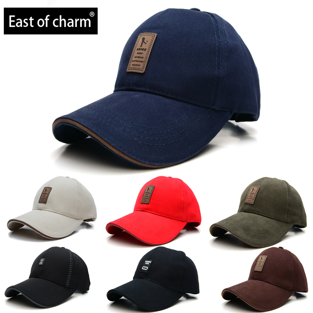New 2015 Brand Baseball Cap Man Bone Baseball Hat For Man Baseball-cap Chapeu Simple and Stylish Pure Color Outdoor Gorras Men