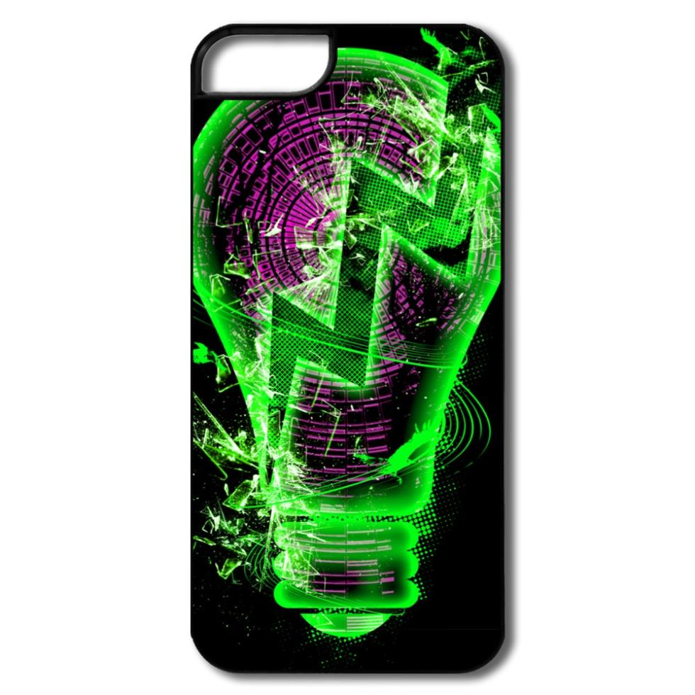 Cool Custom Case For Iphone 5s Light Bulb Design Your Own 5 5s Covers Plastic Cover(China (Mainland))