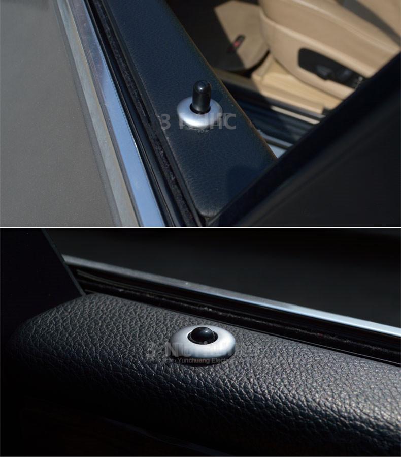 Car Door Lift Lid Trim Strip Interior Accessories 4pcs Door Bolt Decoration Frame Sticker  For BMW 5 Series E60 2006-10  (13)