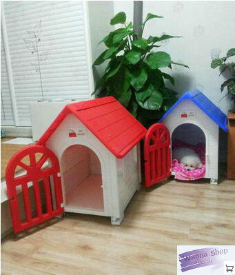 indoor outdoor dog cage dog kennel with door pet house blue grey red plastic dog house for dog(China (Mainland))