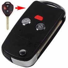Buy 10PCS Modified Flip Folding Remote Key Fob Shell Case Toyota Camry Rav4 Yaris tC xA xB xd Replacement Logo for $41.15 in AliExpress store