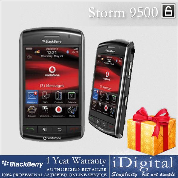 "100% Original Blackberry Storm 9500 Cell Phone Unlocked 3.25"" TFT Screen 3.2MP 3G GPS WIFI Factory Refurbished(China (Mainland))"