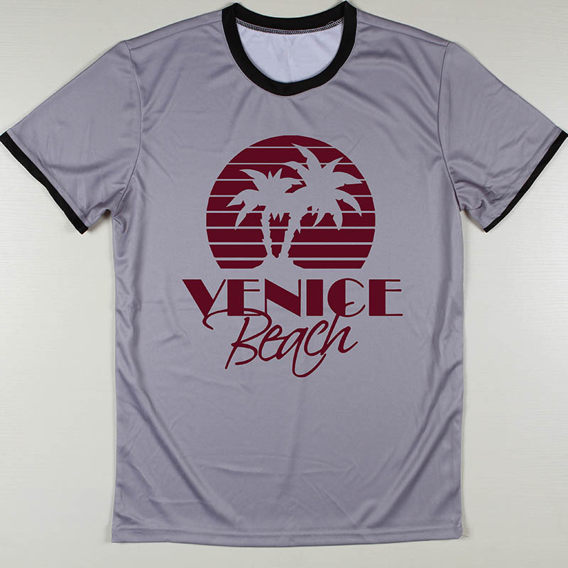 Wholesale Cheap Cool Beans T Shirts Men Venice Beach Top Tee Shirts Sepultura Boys Camiseta Round Neck Short Sleeve(China (Mainland))