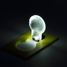 New Design Portable LED Card Pocket Light bulb Lamp Wallet Light Put In Purse Wallet Emergency Light Drop Shipping Wholesale(China (Mainland))