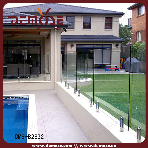 Cheap Swimming Pool Safety Fence Laminated Glass Railing