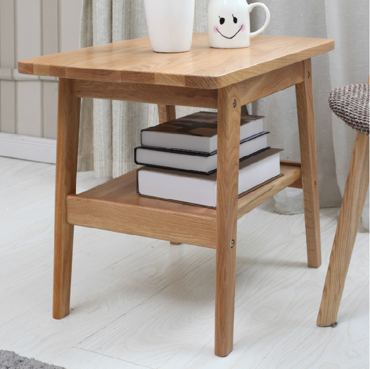 Japanese style furniture white oak solid wood side table for Outdoor furniture japan