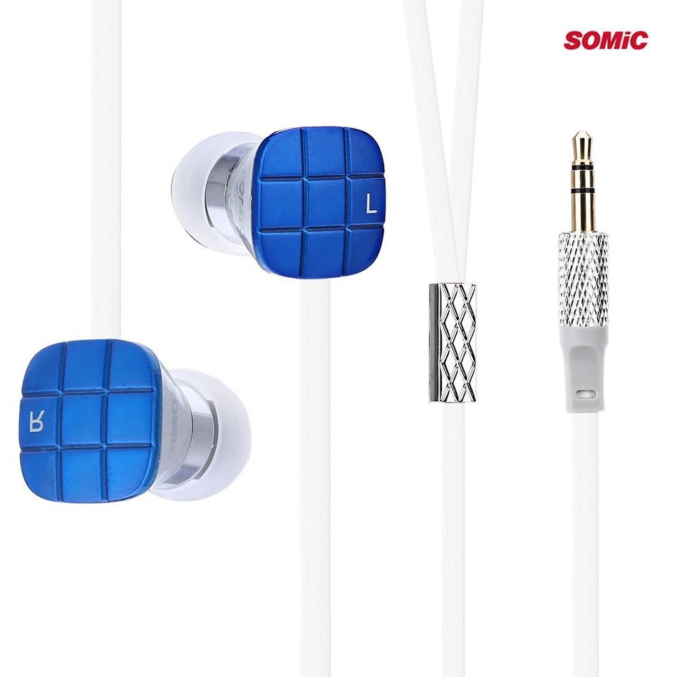 Hot Sale Somic L1 3.5mm Jack Bass Earphones with 9mm Moving Coil Unit Cozy Ear Caps Noodles Earphones HiFi In-ear Music(China (Mainland))