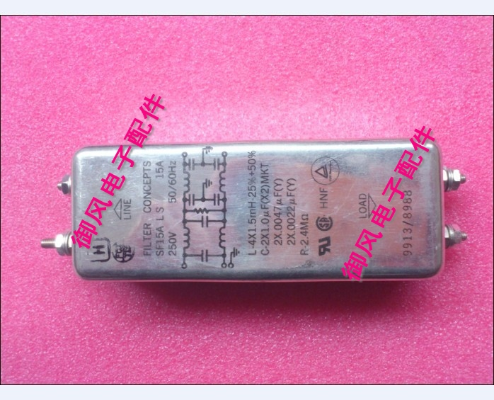 Imported AC single phase power supply filter filter 250V15A SF15ALS bipolar(China (Mainland))