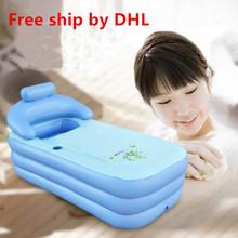 Free ship DHL Adult Spa PVC Folding portable bathtub for adults  Inflatable Bath Tub size 160cm*84cm*64cm + Foot Air Pump(China (Mainland))