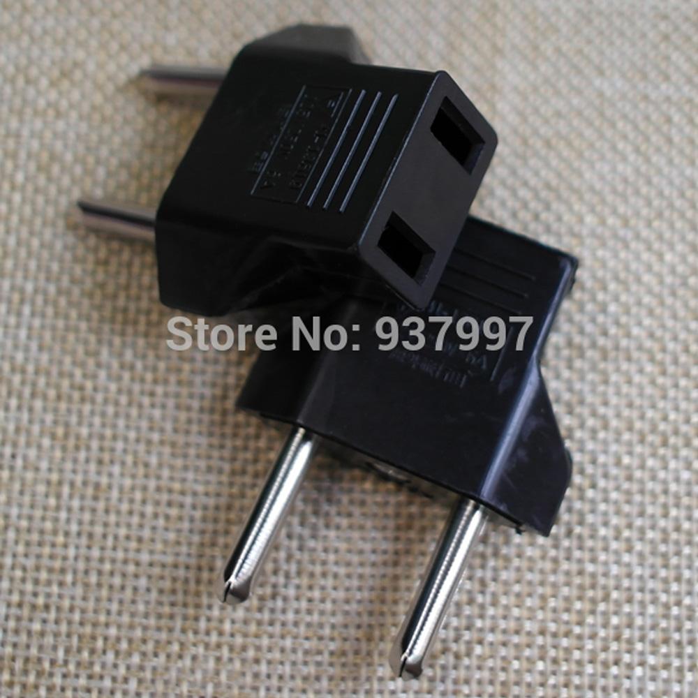 2PCS US CA to EU Travel Converter AC Power Plug Power Charger Adapter Travel Charger Power Adaptor with Europe Socket Plug(China (Mainland))