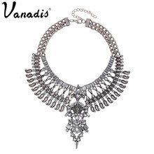 Hot Vintage Necklaces & Pendants Fashion Big Collar Necklace Silver Plated Necklace Trendy Jewelry Statement Necklace For Women(China (Mainland))