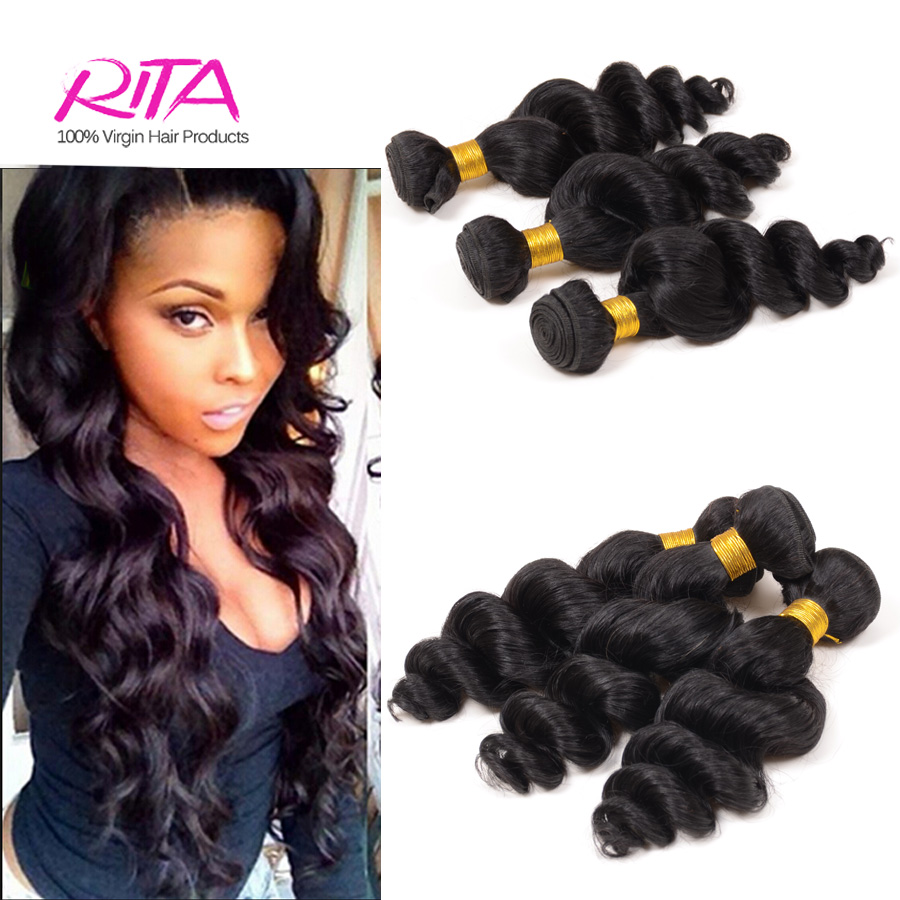 Grade 6A Peruvian Loose wave Hair Weaving 3Pcs/Lot Unprocessed Virgin Peruvian Hair Extension Human Hair Bundle